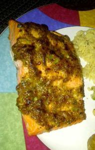 mustard glazed salmon